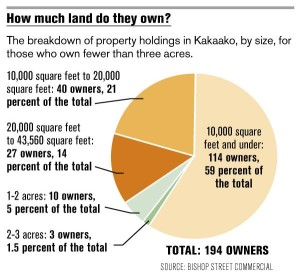 Nearly 200 small landiowners own the majority of the land in Honolulu's Kakaako neighborhood, which is undergoing a major redevelopment.