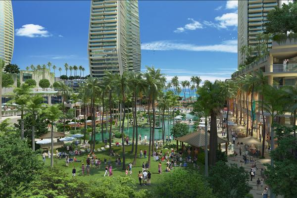 This rendering shows the Howard Hughes Corp.'s Ward Village community.