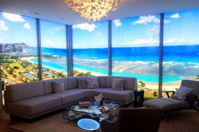 The Waiea tower in The Howard Hughes Corp.'s Ward Village in Honolulu has a penthouse priced at $50 million — a record asking price for a new condominium unit in Hawaii.