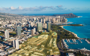 The Waiea condominium tower will be built on the site of a parking lot (1 on the picture), while Anaha will take the former Pier I site (labelled as 2). The yellow highlight indicates the Howard Hughes properties in Kakaako. Photos: Images Courtesy The Howard Hughes Corporation