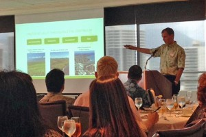 Chris Benjamin, president and chief operating officer of Alexander & Baldwin, was a featured speaker at the Hawaii Economic Association luncheon on Thursday.