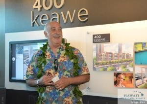 Harry A. Saunders III, president of Castle & Cooke Hawaii welcomes attendees to the 400 Keawe groundbreaking ceremony.