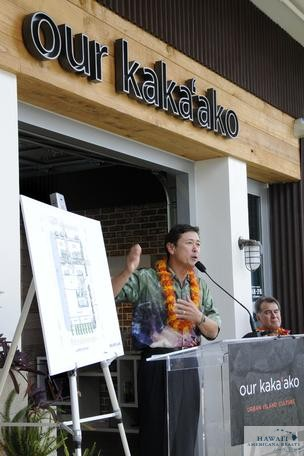 Developer Stanford Carr of Honolulu-based Stanford Carr Development is seen talking about his Keauhou Lane project in this file photo.